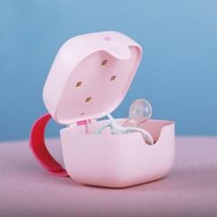 미니짱 공갈노리개 쪽쪽이 휴대용 보관 99.9%살균 소독기 핑크