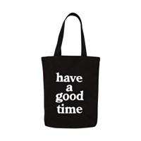 [HAVE A GOOD TIME]LOGO TOTE BAG_BLACK