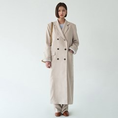 taylored collar rayon coat_(1138186)