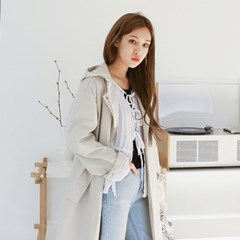 Spring hoody trench coat