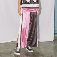 EYEYE COLOR BLOCK PANTS_PINK (EEON2FPR01W)