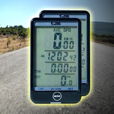 자전거 SD대화면 무선속도계 방수 백라이트기능