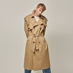 FLAP OVER SIZE TRENCH COAT_BEIGE