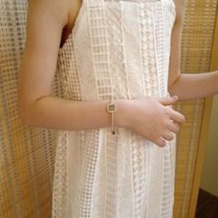 silver square ball bracelet