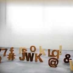 대문자 JWK 멀바우 원목 이니셜 글자 컷팅 알파벳 우드 로고