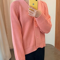 Pastel cable balloon cardigan_M (size : free)_(1227011)