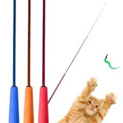 롱롱 고양이 3단 낚시대 3개세트 리필7종 모음