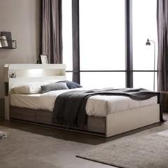 홈잡스 브라이트 LED콘센트 수납형 침대 매트리스포함