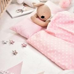 파스텔 핑크 일체형 낮잠이불_(1844511)