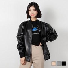1111 모스 레더 블루종 (3colors)