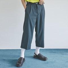 semi wide crop slacks (2 color) - men_(1175358)