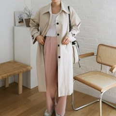 General hidden button trench coat