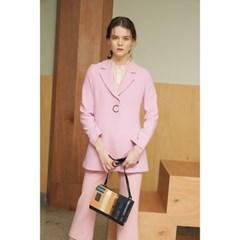 [제이비리파인] 원 버튼 클로즈 핑크 자켓