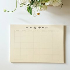 Ivory monthly planner