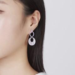 컬러 라인 동그라미 귀걸이
