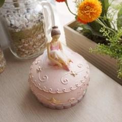 핑크 발레소녀 보석함 오르골_(1534564)