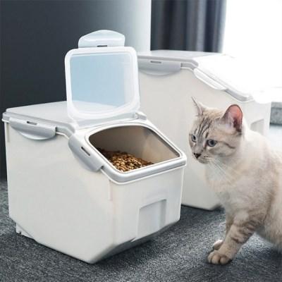 실용적인 모던 고양이 강아지 사료 보관함
