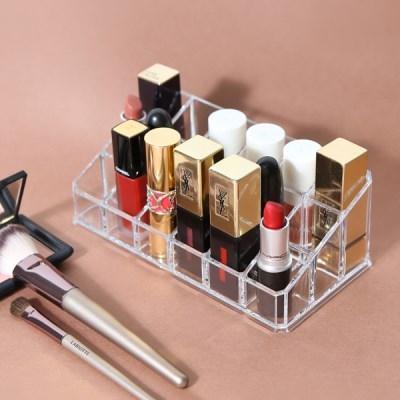 화장품 립스틱 수납정리 18칸 아크릴 오거나이저 LIPS_(979108)