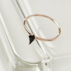 블랙 마름모 반지