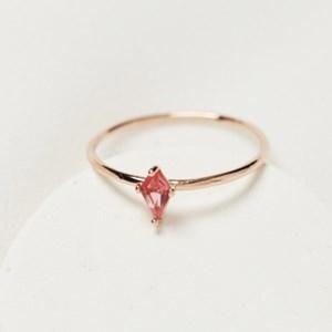 핑크 마름모 반지