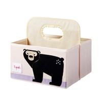 사각 기저귀정리함-블랙곰