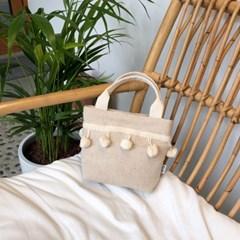 폼폼 토트백 Pompom bag - Oatmeal