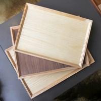 네츄럴 우드 사각 트레이 _ Natural Wood Tray