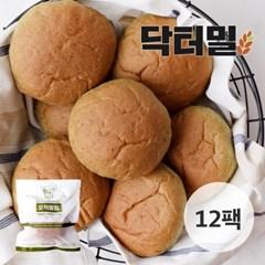 [닥터밀] 오직통밀 쑥모닝빵 12팩_(776847)