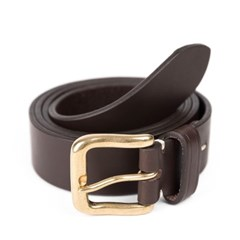 BS BRASS LEATHER BELT (dark brown)