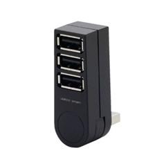 3포트 270도 회전 USB 허브 블랙_(891871)