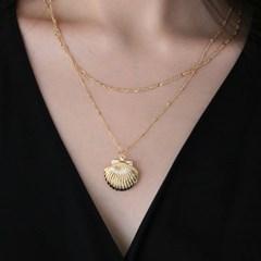 seashell locket necklace