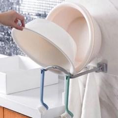 갓샵 접이식 세숫대야 걸이 거치대 욕실 흡착식 수납 정리대 2color