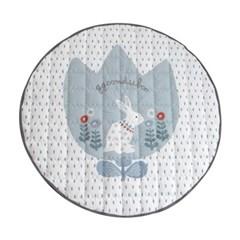 꿈두부 토끼 디자인 아이방 인테리어 빅래빗 민트 원형 유아러그