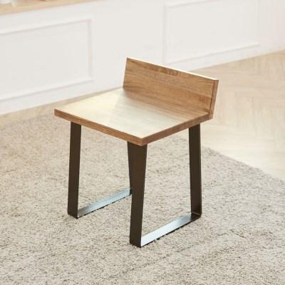 에쉬 원목의자 1인용 스툴 간이의자 식탁의자 테이블