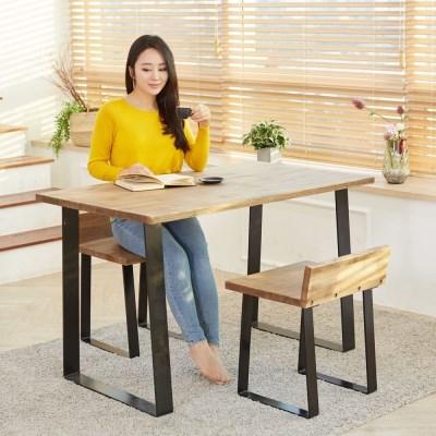 에쉬 원목테이블 1200 2인용 4인용 원목식탁 테이블