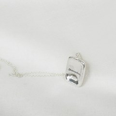[Deaeseohsta] Square wish necklace
