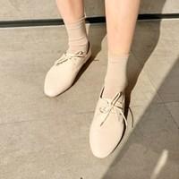Cream soft oxford loafer_K (size : 230,235,240,245,2_(1242632)