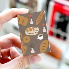 브리스크스타일 성냥(빵과 커피 그리고 고양이)_3개입_(989028)