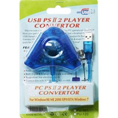 PS2 to PC / PS3 2way 컨버터 (2인플레이 / USB)