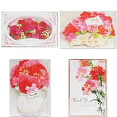 홀마크 꽃 감사 입체카드 4종-2