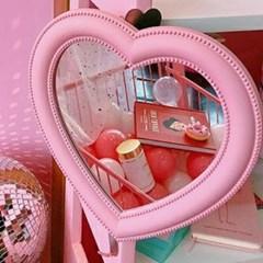 핑크 러블리 탁상 거울 1개