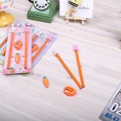 당근 토끼 지우개연필 세트
