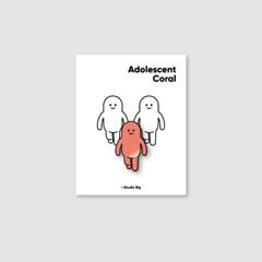 [핀뱃지] 스튜디오빅 사춘기의 코랄(Adolescent Coral) 뱃지