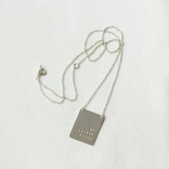 Serial number chain necklace