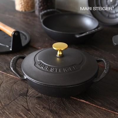 마리슈타이거 무쇠주물냄비 베이비웍 18cm 블랙골드