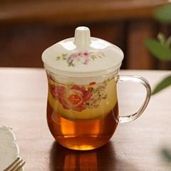 라인유리머그잔 / 유리찻잔 커피잔 카페유리잔 머그컵