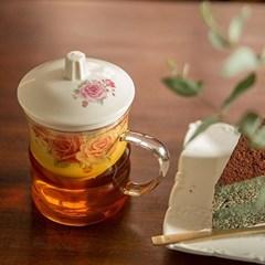 주름유리머그잔 / 유리찻잔 커피잔 카페유리잔 머그컵