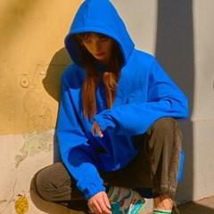 [오씨] 숄더 드롭 오버핏 후드 블루
