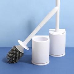 욕실청소 브러쉬 위생적인 TPR 실리콘 벽걸이 변기솔_(993038)