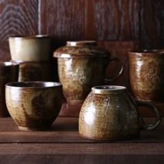 분청 도자기 컵 4종